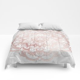 Rose Gold Mandala Star Comforters