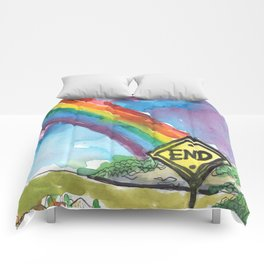 the end of the rainbow Comforters
