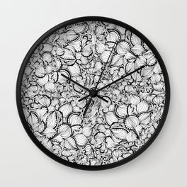 Pussy Willow Pods Wall Clock