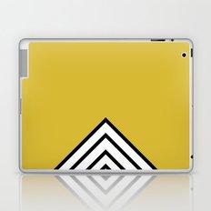 MUSTARD BLACK AND WHITE STRIPES Laptop & iPad Skin