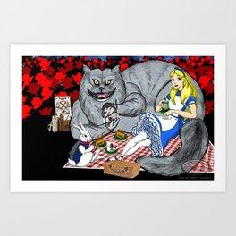 Alice in Picnic land Art Print