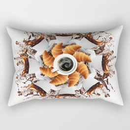 morning coffee mandala Rectangular Pillow