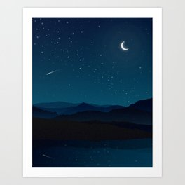 In the Midnight hour the Wild things will emerge  Art Print