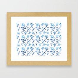 Ceramic Portuguese -Pattern Framed Art Print