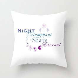 Night Triumphant - Stars Eternal (white) Throw Pillow