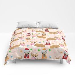 Corgi welsh corgis gumball bubblegum cute dog breed corgis pet gifts Comforters