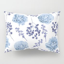 Sky Blue Roses Pillow Sham