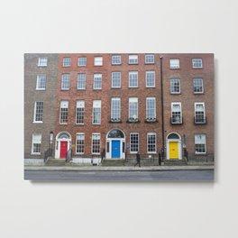 Colorful Doors in Dublin, Ireland Metal Print
