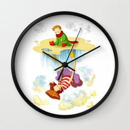 Etienne & Phil - Le monde à l'envers Wall Clock