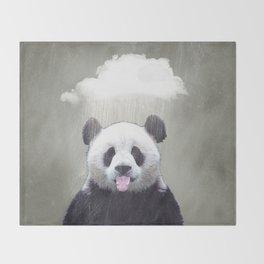 Panda Rain Throw Blanket