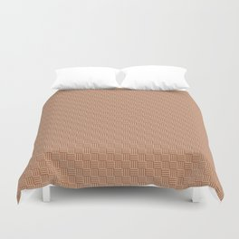 Cavern Clay SW 7701 and Ligonier Tan SW 7717 Grid Tessellation Stripe Lines Weave Pattern Duvet Cover
