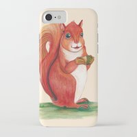 squirrel iPhone & iPod Cases featuring Squirrel by Yana Elkassova