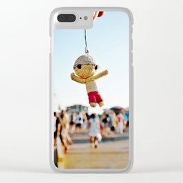 Little Doll At The Pier. Clear iPhone Case