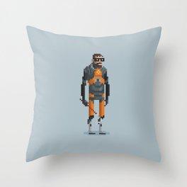 Man With a Crowbar Throw Pillow