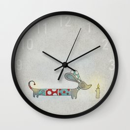 A Nice Little Dotted Dachshund Wall Clock