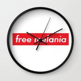 Free Melania 2 Wall Clock