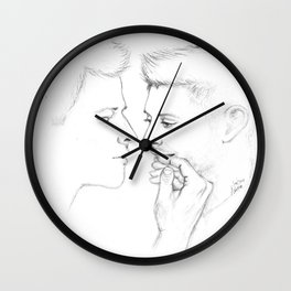 The whole world stops and stares for a while Wall Clock