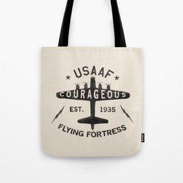 B17 Bomber Courageous Print Tote Bag
