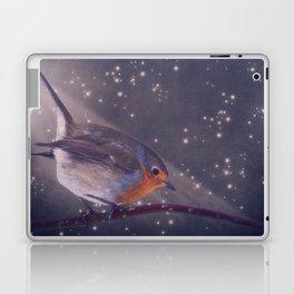 The little robin at the night Laptop & iPad Skin