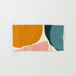shapes geometric minimal painting abstract Hand & Bath Towel