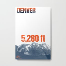 Cities Of America: Denver Metal Print