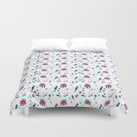 crab Duvet Covers featuring Crab by Ewelina Gaska