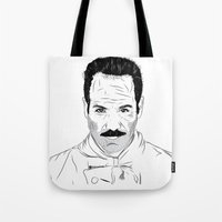 seinfeld Tote Bags featuring Seinfeld soup by deathtowitches