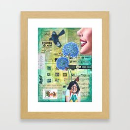 Come To Your Senses Framed Art Print