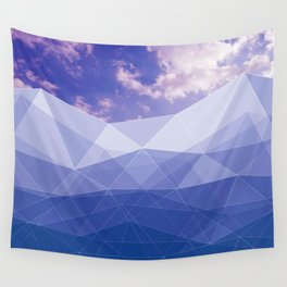 Mountains poligonal and the sky Wall Tapestry