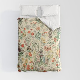 Wildflower Diagram // Fleurs II by Adolphe Millot 19th Century Science Textbook Artwork Comforters