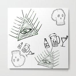skulls and eyes Metal Print