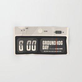 Groundhog Day, Bill Murray, minimalist movie poster, Andie MacDowell, Harold Ramis Hand & Bath Towel