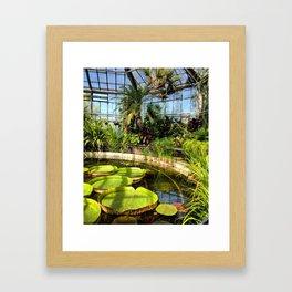 GREEN PARADISE Framed Art Print
