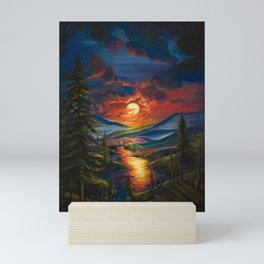 Sunset of Nature Mini Art Print