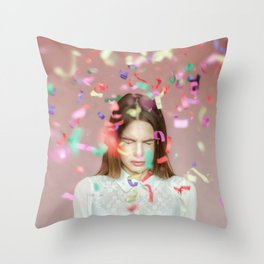 unexpected happiness Throw Pillow