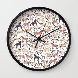 Horses, Ponies, Equine Wall Clock