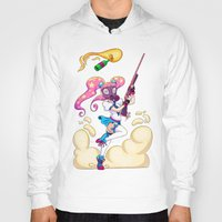 magical girl Hoodies featuring Riot Magical Girl by Magnta
