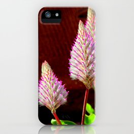 A Flurry Of Furry Flowers iPhone Case