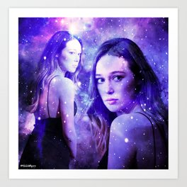Heavenly Alycia Debnam-Carey Art Print