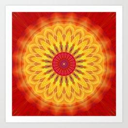 mandala sunlight Art Print