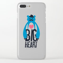 Big Heart Bear Clear iPhone Case