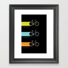 Light Bicycles Framed Art Print