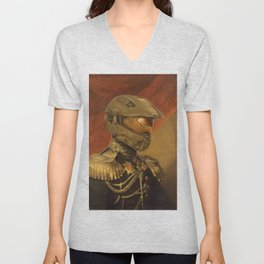 Halo Master Chief Spartan 117 Class Photo General Painting Fan Art Unisex V-Neck