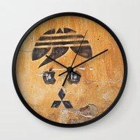 grafitti Wall Clocks featuring Grafitti Commentary Life by Simpson Jane