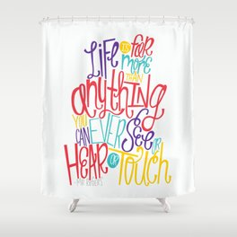 See, Hear, or Touch Shower Curtain