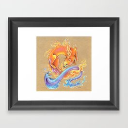 Fire mongoose and water cobra Framed Art Print