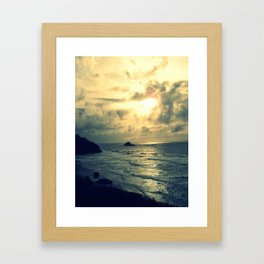 View From the Cliffs Framed Art Print