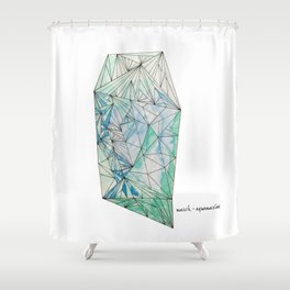 BIRTHSTONES - MARCH / AQUAMARINE Shower Curtain