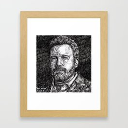 Ben Affleck Framed Art Print