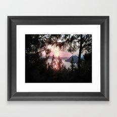 Solemn Sunset  Framed Art Print